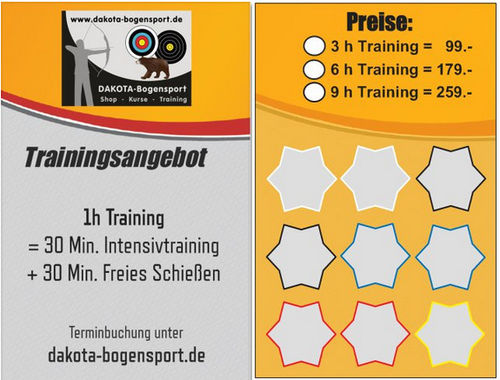 3 - 9 Trainingsstunden